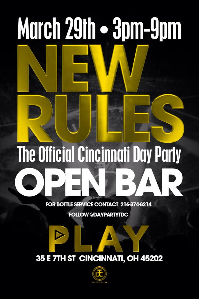 3.29.14 - New Rules Day Party at Club Play (Cincinnati, OH)