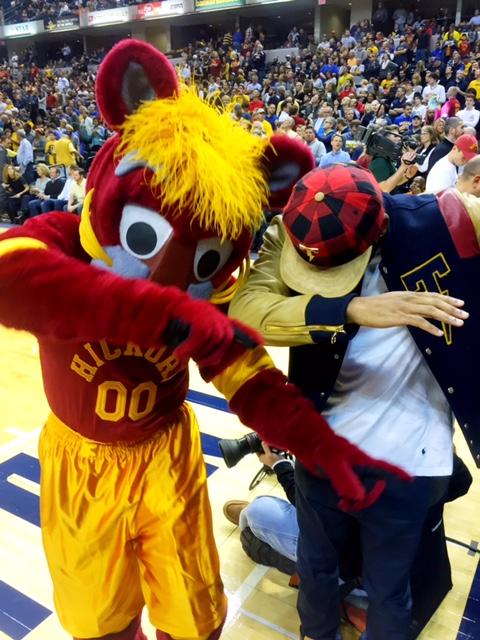 Indiana Pacers Mascot (Boomer) and DJ Bandcamp