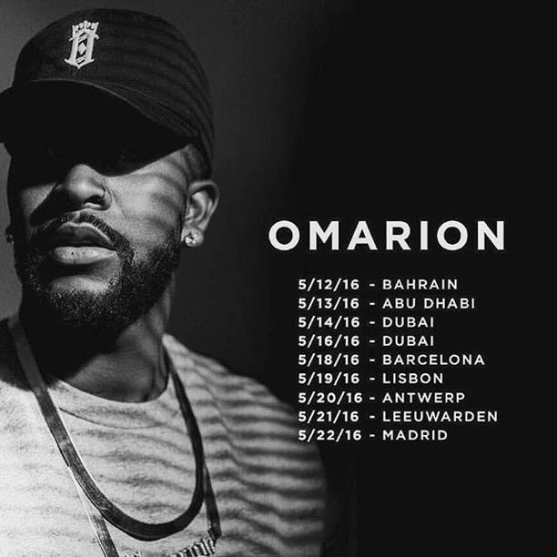 Omarion European Tour (5.10.16)