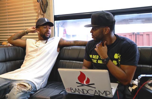 Omarion and DJ Bandcamp Tour Bus (8.14.15)