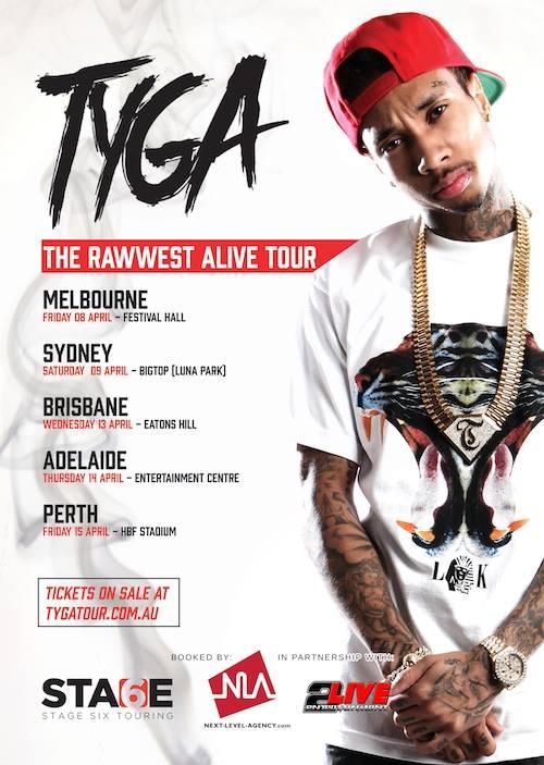 Tyga Rawwest Alive Australian Tour Promo (4.6.16)