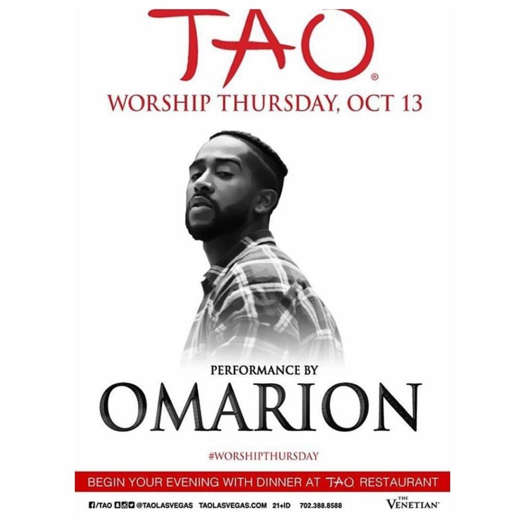 10.13.16 - Omarion at Tao (Las Vegas, NV)
