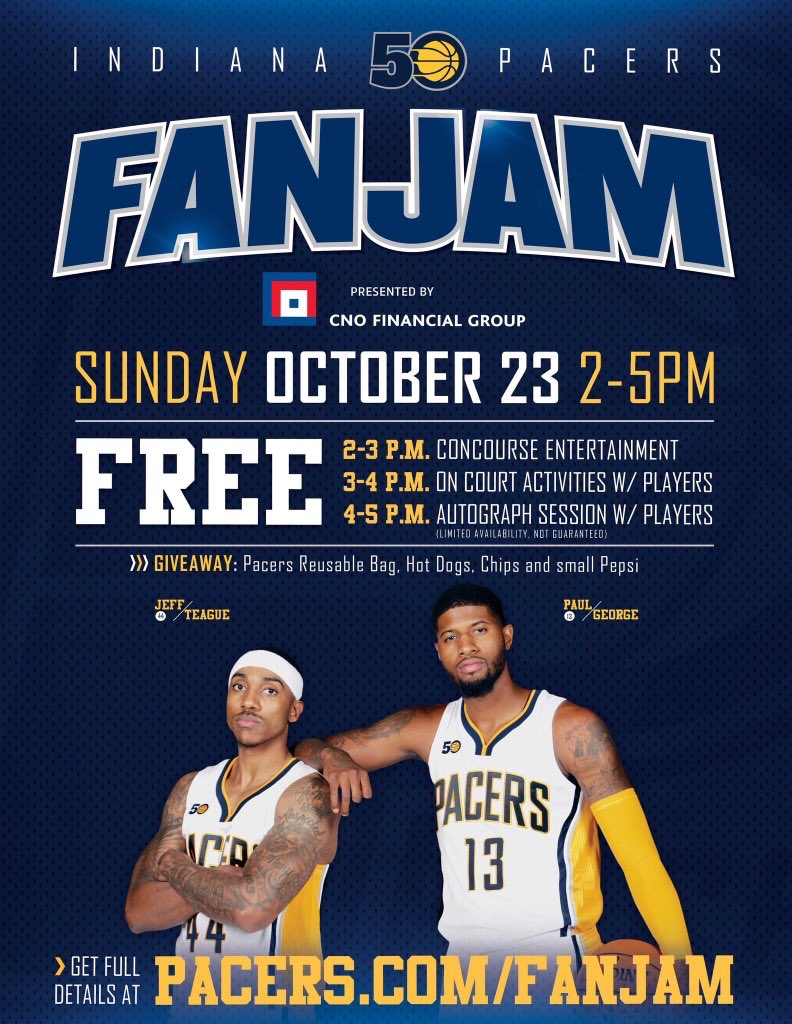 10.23.16 - Pacers Fan Jam (Indianapolis, IN)